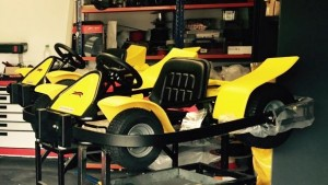 Our latest fleet of go-karts under-going pre-party inspection