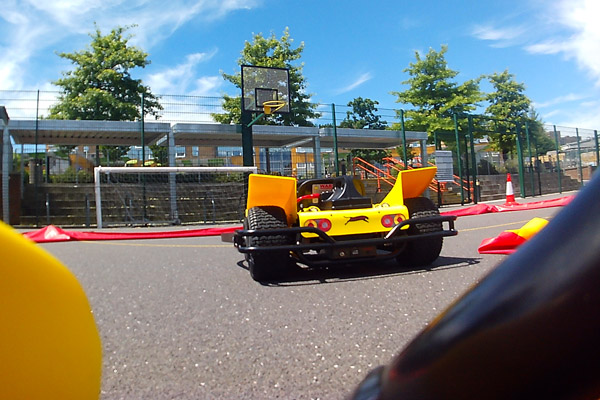 Go-Karting in the Summer Sun